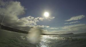 Foiling towards Dinas Head